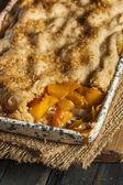 Homemade Flakey Peach Cobbler — Stock Photo