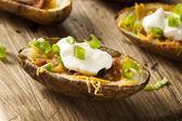 Homemade Potato Skins with Bacon — Stock Photo
