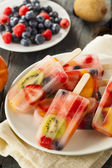 Healthy Whole Fruit Popsicles — Foto Stock