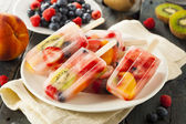 Healthy Whole Fruit Popsicles — Stock Photo