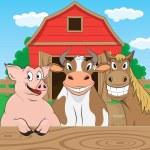 Farm background — Stock Vector