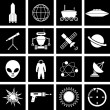 Space icons — Stock Vector #12801753