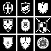 Shields icon — Stok Vektör