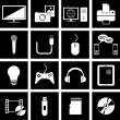 Stock Vector: Electronics icons