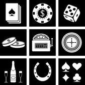 Casino icons — Stock Vector