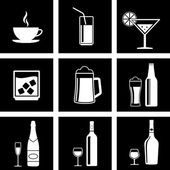 Drinks icons — Stock Vector
