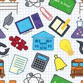 School seamless texture — Stock Vector