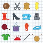 Costura — Vector de stock