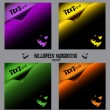 Royalty-Free Stock Vectorielle: Set of halloween backgrounds, curl paper, eps8