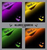 Set of halloween backgrounds, curl paper, eps8 — Stock Vector