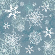 Royalty-Free Stock Vektorgrafik: Snowflakes seamless background