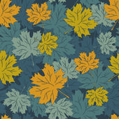 Seamless vector autumn leaves background, eps8 — Stockvector