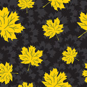Beautiful seamless autumn background — Stockvector