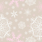 Vector snowflakes seamless background — Stock Vector