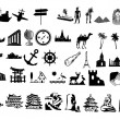 Travel silhouettes — Stock Photo