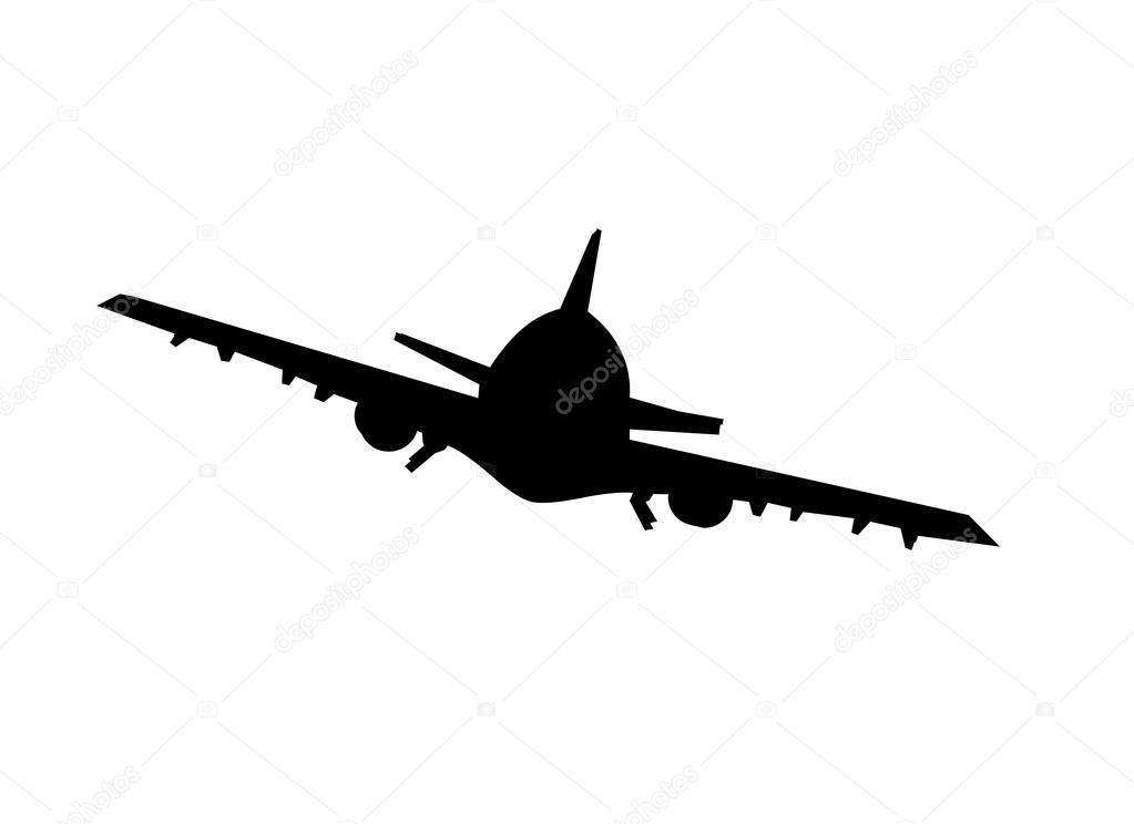 飞机剪影 — 图库照片08lthammar#12040713
