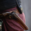 Cowboy and gun in belt — Stock Photo #12149112