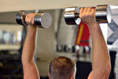 Shoulder press — Stock Photo