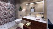 Modern bath — Stock Photo