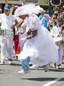 Leaping Bride at Carnival — Stock Photo