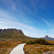 Stock Photo: Stunning Cradle Mountain and Barnes Bluff
