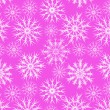 Royalty-Free Stock Obraz wektorowy: Snowflakes on pink seamless pattern, vector