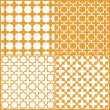 Moroccan lattice seamless pattern set, vector — Stock Vector #12144042