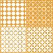 Moroccan lattice seamless pattern set, vector — Stock Vector #12144042