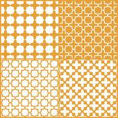 Moroccan lattice seamless pattern set, vector — Stock Vector