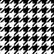 Houndstooth seamless pattern black and white, vector - Stock Vector