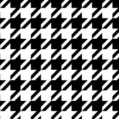 Houndstooth naadloze patroon zwart-wit, vector — Stockvector