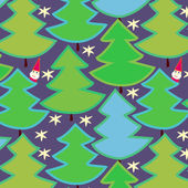 Christmas trees seamless pattern, vector — Stock Vector