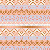 Native american traditional seamless pattern in pastel colors, vector — Stock Vector