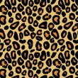 Stock Vector: Leopard skin seamless pattern, vector