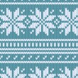Scandinavian sweater seamless pattern in blue, vector - Stock Vector