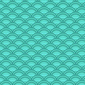 Traditional japanese waves seamless pattern, vector — Vetor de Stock