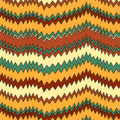 Colorful zigzag seamless pattern, vector — Stock Vector