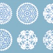 Christmas paper snowflakes collection, vector — Stock Vector