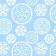 Christmas paper snowflakes seamless pattern, vector - Stock Vector