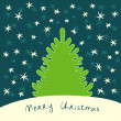 Christmas tree greeting card, vector — Vettoriale Stock #13053340