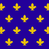Fleur de lys (royal lily) seamless pattern, vector — Stock Vector