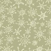 Doodle fiocchi di neve seamless pattern, vettoriali — Vettoriale Stock