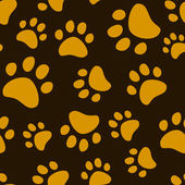 Cat footprint seamless pattern, vector — Stock Vector