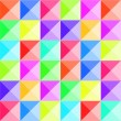 Colorful pyramid relief seamless pattern, vector — Stock Vector