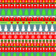 Colorful christmas striped seamless background, vector — Stock Vector