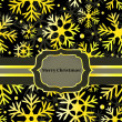 Royalty-Free Stock Vektorgrafik: Christmas card with golden snowflakes, vector