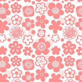 Sakura flower seamless pattern on white, vector — Stock Vector