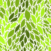 新鮮な緑の葉のシームレスなパターン、ベクトル — ストックベクタ