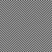 Black and white herringbone fabric seamless pattern, vector — Vetor de Stock