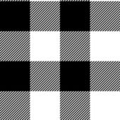 Checkered black and white simple fabric seamless pattern, vector — Stock Vector